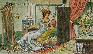 """Hala uçuk bir düşünce olan ama kadınlar tarafından sanırım hayali kurulan """"makyaj yapan robot"""" öngörüsü..."""