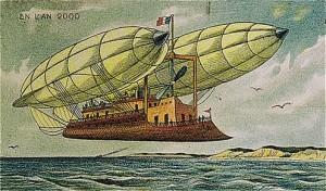 Zeplinlerle taşınabilen uçan gemi öngörüsü...
