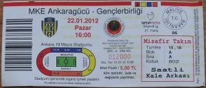 22 Ocak 2012 - Ankaragucu0-1Genclerbirligi