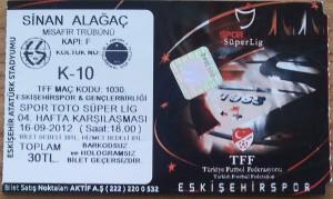 16 Eylul 2012 - Eskisehirspor4-2Genclerbirligi