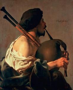 Hendrik ter Brugghen - Bagpipe Player (1624)