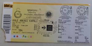 11 Aralik 2010 Galatasaray0-2Genclerbirligi Mac Bileti
