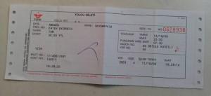 13 Ekim 2006 - BJK-Deplasmani-TCDD-Bileti