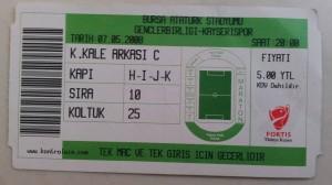 7 Mayis 2008 - Kayserispor-Gencler