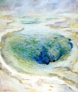 John Henry Twachtman - Morning Glory Pool Yellowstone