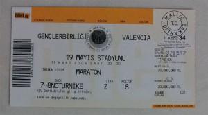 11.Mart.2004.UEFA.Kupasi.4.Tur.1.Maci.Genclerbirligi1-0Valencia.Mac.Bileti