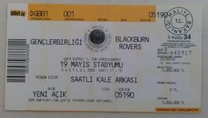 24.Eylul.2003.UEFA.Kupasi.1.Tur.1Maci.Genclerbirligi3-1BlackburnRovers.Mac.Bileti