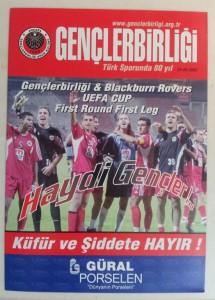24.Eylul.2003.UEFA.Kupasi.1.Tur.1Maci.Genclerbirligi3-1BlackburnRovers.Mac.Programi