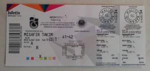 27 Nisan 2013 Trabzonspor-Genclerbirligi, Huseyin Avni Aker Bilet