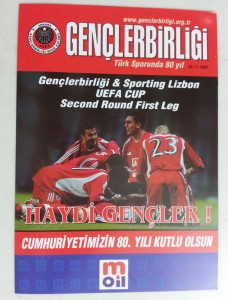 6.Kasim.2003.UEFA.Kupasi.2.Tur.1.Mac.Genclerbirligi1-1Sporting.Lisbon.Mac.Programi