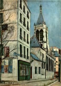 Maurice Utrillo - Church of Saint Severin
