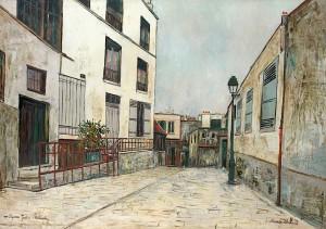 Maurice Utrillo - Impasse Trainee, Montmartre (c.1931)