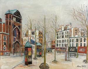 Maurice Utrillo - Place des Abesses