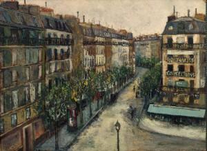 Maurice Utrillo - Rue Custine a Monmartre