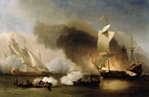 Willem van de Velde the Elder - an Action off the Barbary Coast with Galleys and English Ships