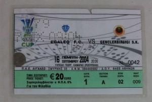 16.Eylul.2004.UEFA.Kupasi.1.Tur.1.Maci.Egaleo1-0Genclerbirligi.Mac.Bileti