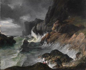Horace Vernet - Stormy Coast Scene after a Shipwreck