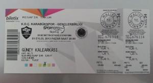 1 Eylul 2013 - Karabukspor - Genclerbirligi Mac Bileti