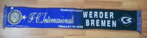 01 Ekim 2008 - Inter - Werder Bremen Champions League Match Scarf