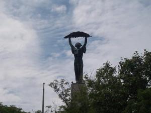15 Haziran 2009 - Ozgurluk Heykeli, Liberty Statue, Budapeste, Macaristan