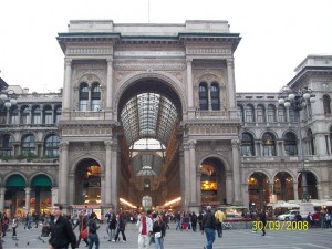 30 Eylul 2008 - Galleria Vittorio Emanuele II, Milano, Italya -01-