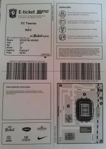 24 Kasim 2013, Twente - NAC Breda Mac Bileti