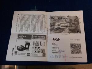 28 Kasim 2013 - Gunluk Bilet Duzenleme, Dordrecht, Hollanda