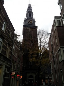 29 Kasim 2013 - Oude Kerk'in (Old Church, Eski Kilise), Amsterdam, Hollanda