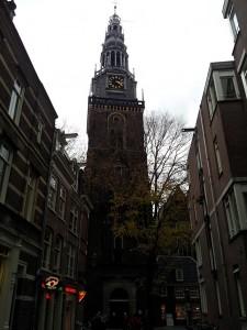 29 Kasim 2013 - Oude Kerk'in (Old Church, Eski Kilise), Amsterdam, Hollanda