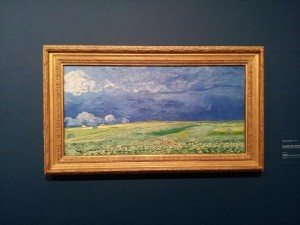 29 Kasim 2013 - Wheatfield Under Clouded Sky (1890), Van Gogh Museum, Amsterdam, Hollanda