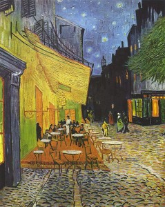 Van Gogh - The Cafe Terrace on the Place du Forum, Arles, at Night (September 1888)