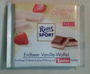 Ritter Sport - Cilek & Vanilyali Gofretli (Strawberry & Vanilla-Wafer)