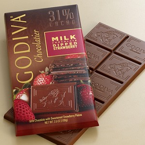 Godiva - Milk Chocolate with Strawberry