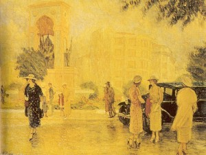 Nazmi Ziya Guran - Taksim Meydani, 1935
