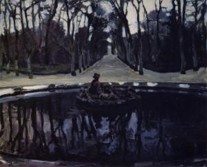 Alexander Benois - The Flora Fountain (1905-1906)