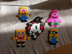 Alkaralar, Patrick, Spongebob, Minion, Pyssla