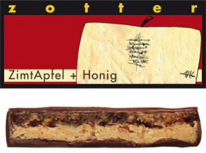 Zotter - ZimtApfel + Honig (Dag Sutlu Cikolata, Elma, Bal, Tarcin)