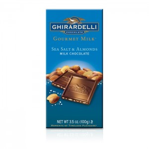 Ghirardelli – Milk Chocolate Sea Salt & Almonds aka Deniz Tuzu ve Bademli Sutlu Cikolata