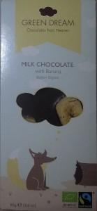 Green Dream - Milk Chocolate with Banana (Belgian Organic) aka Muzlu Sutlu Organik Cikolata