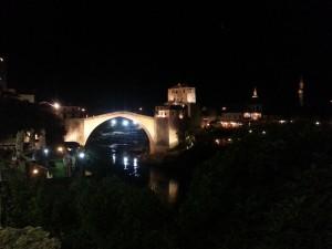 12 Temmuz 2015, Mostor Koprusu (Gece), Mostar, Bosna-Hersek -05-