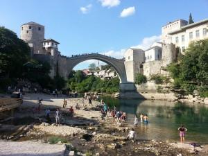 12 Temmuz 2015, Mostor Koprusu, Mostar, Bosna-Hersek -01-