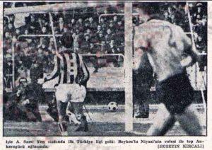 1 Ocak 1966 - 1965-1966 Milli Lig 17. Hafta Beykoz 1-0 Ankaragucu (Niyazi Camgoz, Ali Sami Yen'deki Ilk Lig Golu)