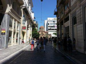 12 Temmuz 2016 - Panagia Kapnikarea Kilisesi, Atina, Yunanistan -01-