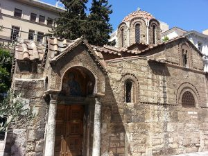 12 Temmuz 2016 - Panagia Kapnikarea Kilisesi, Atina, Yunanistan -02-