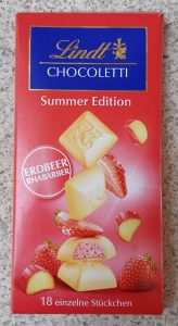 Lindt - Summer Edition - Strawberry & Rhubarb (Cilek ve Raventli Beyaz Cikolata)