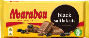 Marabou - Black Saltlakrits (Siyah, Tuzlu, Meyankoklu y30 Kakalo Surlu Cikolata)