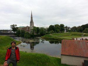 Mehmet Ali Cetinkaya - 27 Temmuz 2016 - Aziz Alban Kilisesi -Kastellet'den- (St. Alban's Church), Kopenhag, Danimarka