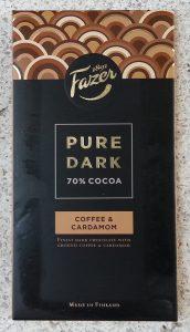 Fazer - Pure Dark, Coffee & Cardamom (Kahve ve Kakuleli Koyu Cikolata)
